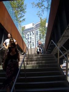 High Line Parkへのエントランスステップ