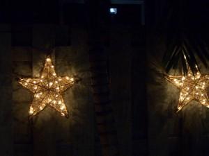 星の形をしたクリスマスライト