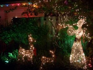 トナカイとエンジェルのクリスマスライト