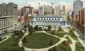 ブライアントパークとニューヨーク州立図書館