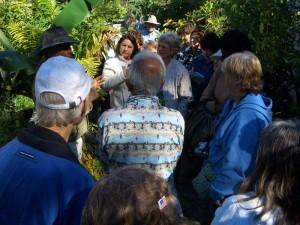 Plant Walkに来る庭・植物好きの年配の人たち