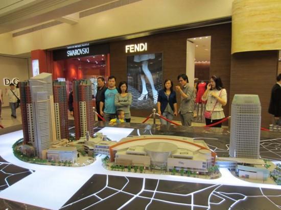 The MixCの全体開発のモデル。商業、ホテル、高層住宅の複合開発。