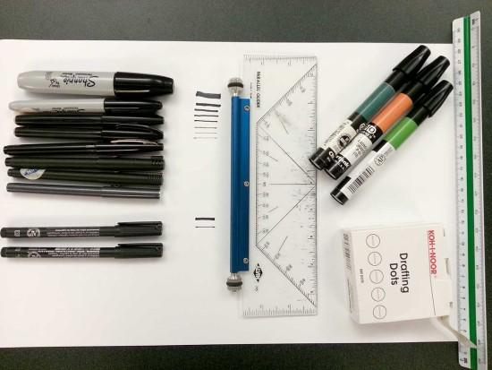 ランドスケープの仕事をする際の道具とペン