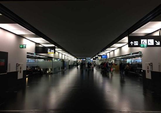 ウィーンの空港ロビー