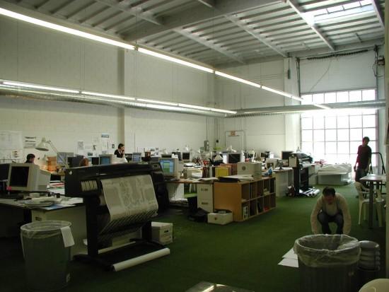 PWP-オフィス内の様子(2004年)